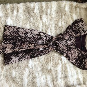 Gap size 0, purple and beige African print dress